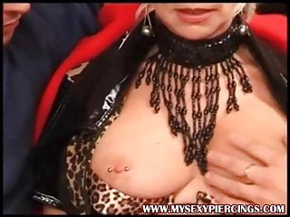 Pussy mature galllery - My sexy piercings pierced pussy mature in stockings threesom