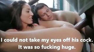 Husband watches wife take huge BBC