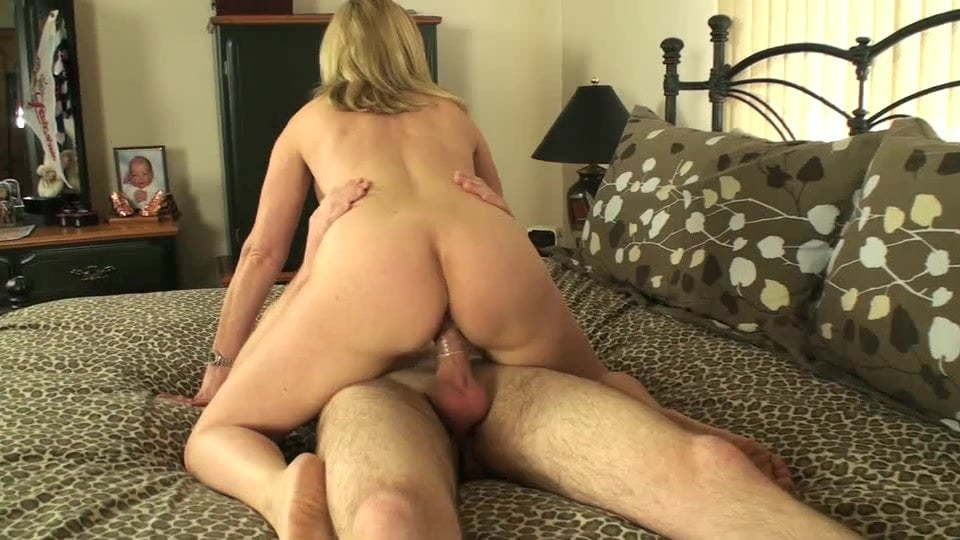 Blonde Milf Fucks Friends Son