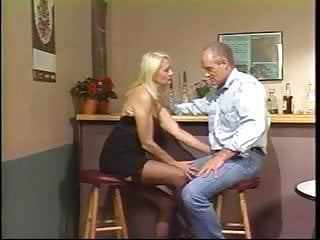 Mature older nylon Truck stop whore gets fucked and facialized by fat older dude