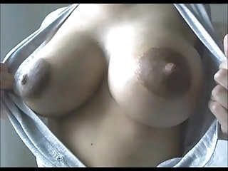 Women milky breast - Puffy, milky, chocolatey, nipples