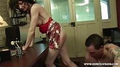 Sexy Monica, slim office mature