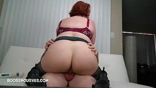 Big tits Quinn Rain BBW secretary takes dicktation