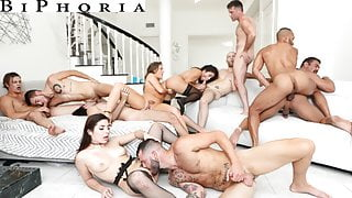 BiPhoria - Anything Goes At Couple's First Bisexual Orgy