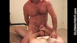 Bisexual Muscledaddy Jackingoff His Buddy