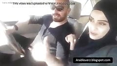 Hot Hijab Girl In His Car Going Crazy