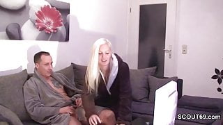 German Step-sister Caught not Step-bro and help with Fuck