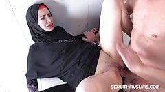 Muslim Freya Dee fuck in the bathroom