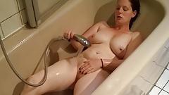 oral Fat ugly German BBW masturbates in bathtub! big ass and Tits boob