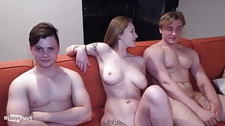 Muscular Guys Bisexual Threesome