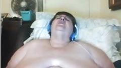 BBW Granny masturbating on webcam