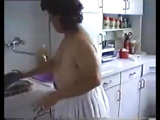 Naked cleaning - Moms cleaning the house naked