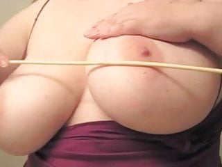 Breast flogging nipple cane - Breast caning