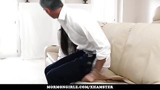 Mormongirlz - Sweet young girl punished with his cock