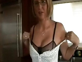 Sexy blonde couple kitchen fucking Sexy blonde gets naughty in kitchen