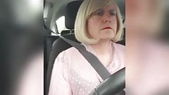 Sissy cunt goes for a drive again