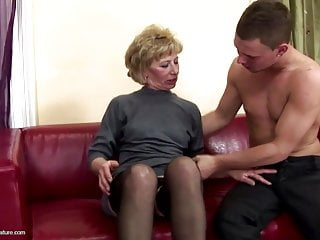 Hairy mature mom Hairy mature mom gets rough anal sex from son