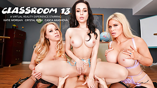 Three hot MILFS share a cock together in Virtual Reality!