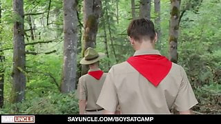 Inexperienced Camp Boy Cyrus Stark Gets Naked In The Woods