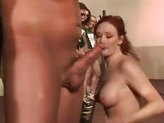 Jack off competition - Vicious redhead in a suck off competition