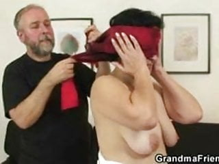 Group of guys watching couple fuck Young guy helps mature couple to fuck