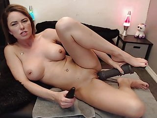Very large sized boobs Sexy milf wants to masturbate with a very large dildo
