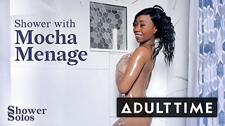 Sexy Mocha Menage Wants To Shower With You