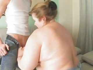Young boya fuck grannies - Redhead-bbw-granny fucked by young guy