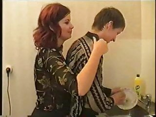 Mom and boy having sex videos - Russian mom and boy having sex in kitchen