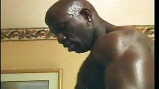 dude gets dominated by a big black cock