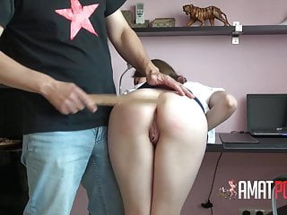 Cum female video Female training: spanked and disciplined with cum