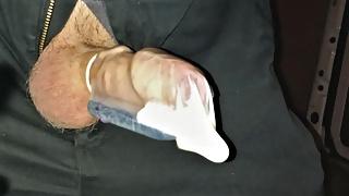 Hands Free Condom Cum Fill Using Vibrator