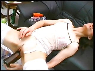 Big mature black pussy solo Bitch shoves bottles and dildos in pussy solo
