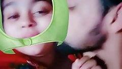 Desi cute girl kissing passionate