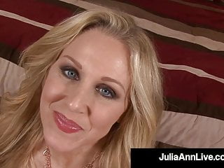 Potty pussy Potty mouth milf julia ann stuffs her mouth with a hard cock