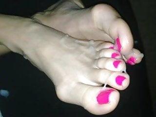 Fetish barbie satin - Cumslut barbies cum coverd toes