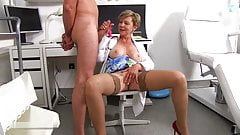 Dr. Anthonia loses self-control at the sight of a large