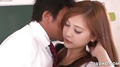 Wonderful schoolgirl Yura Kasumi has sweet time with her