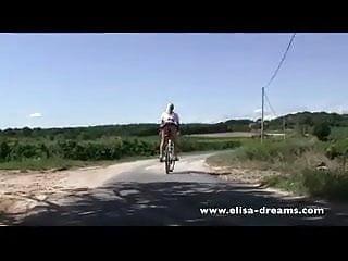 Girl nude in public video Nude in public and dirty biking