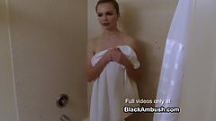 Young Blonde Ambushed by Big Black Cock In The Shower