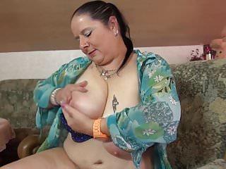 Women and vagina Mature bbw mom massaging her big tits and vagina