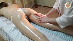 Massage for a very leggy stunner