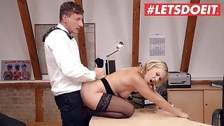 LETSDOEIT Sexy Lena Nitro Has Hot Fuck With Sleepy Boss At Work