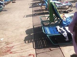 Pics of teen in thong Black teen in thong bathing suit over bikini