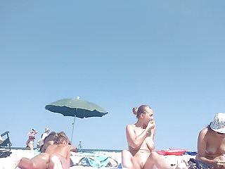 Nudes at the ambar Three hot babes nude at the beach