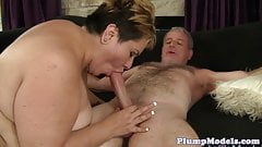 Dicksucking ssbbw enjoys getting fucked