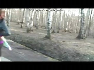 Tranny pick up - Public pick up fuck in the forest