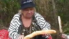 Big Tit Granny Fucks in the Woods