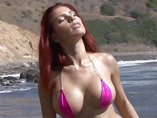 South beach micro bikini contests Hot busty redhead micro bikini naked and spreading