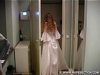 Busty russian wedding gown Olia on her wedding night.